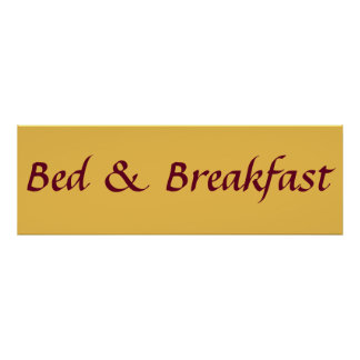 bed and breakfast funny poster design