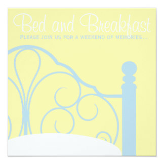 Bed and Breakfast Invitations