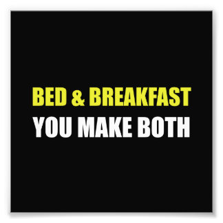 Bed And Breakfast Photo Print