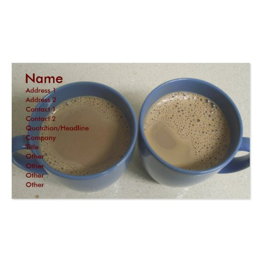 Bed and Breakfast Profile Card Double-Sided Standard Business Cards (Pack Of 100)