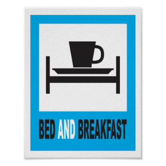 Bed and breakfast sign posters