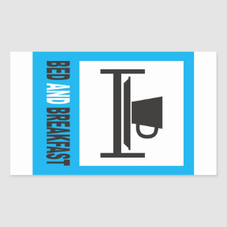 Bed and breakfast sign stickers