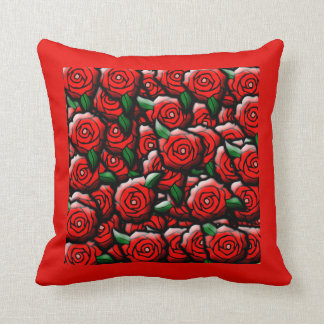 Bed and Roses By Aliya Leigh Throw Pillow