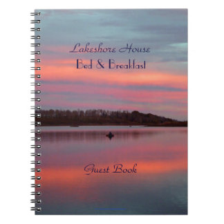 Bed & Breakfast B&B Guest Book, Sunset Fisherman Notebook