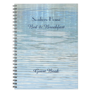 Bed & Breakfast Guest Book Abstract Reflection Spiral Notebook