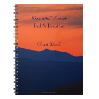 Bed & Breakfast Guest Book Red Sky at Sunset B&B Notebook