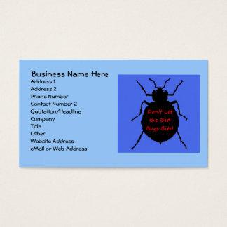 Bed Bug Exterminator Business Card