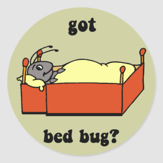 Bed bugs classic round sticker