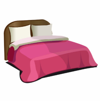 Cartoon pink bed gifts on zazzle for Cama animada