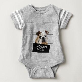Bed dog - bulldog baby bodysuit