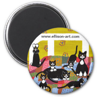 Bed Full of Cats Magnet