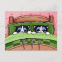 Bed Mice Do Exist - Cat Postcard