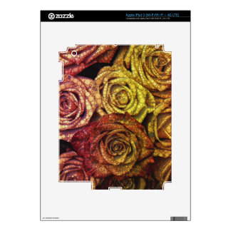 Bed Of Abstract Roses Decal For iPad 3