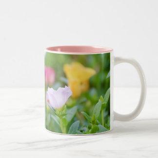 Bed of Flowers (2) Two-Tone Coffee Mug