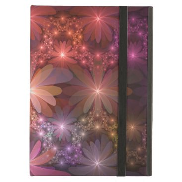 Bed Of Flowers Colorful Shiny Abstract Fractal Art Case For iPad Air