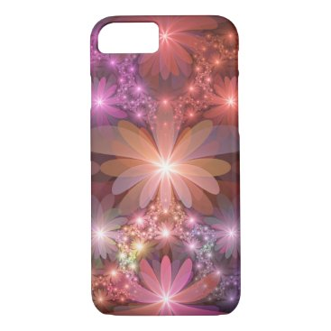 Bed Of Flowers Colorful Shiny Abstract Fractal Art iPhone 8/7 Case