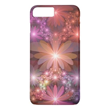 Bed Of Flowers Colorful Shiny Abstract Fractal Art iPhone 8 Plus/7 Plus Case