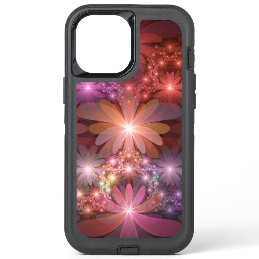 Bed Of Flowers Colorful Shiny Abstract Fractal Art OtterBox Defender iPhone 12 Pro Max Case