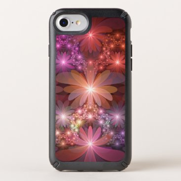 Bed Of Flowers Colorful Shiny Abstract Fractal Art Speck iPhone Case