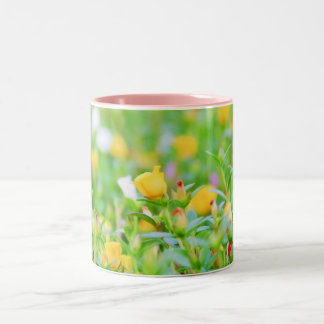 Bed of Flowers Two-Tone Coffee Mug