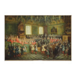 Bed of Justice Held in the Parliament Canvas Print