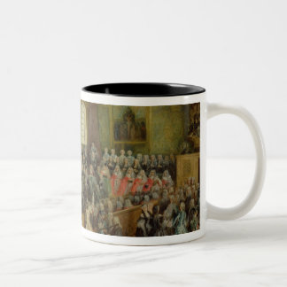 Bed of Justice Held in the Parliament Mug