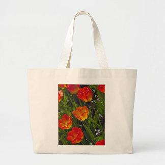 Bed of Orange Tulips Jumbo Tote Bag