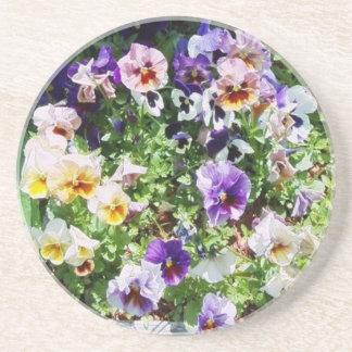 Bed of Pansies Coasters