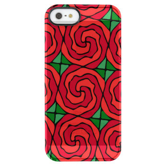 Bed of Red Roses Clear iPhone SE/5/5s Case