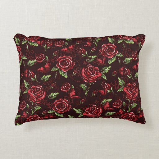 Colorful Throw Pillows For Bed : Bed of Roses Decorative Pillow Zazzle