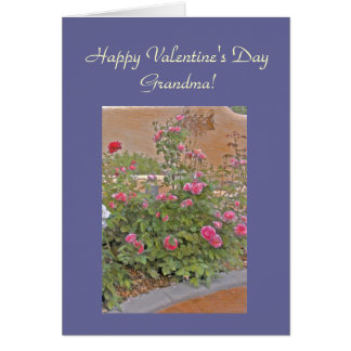 Bed of Roses for Grandma Valentine Template Card