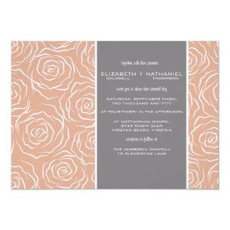 Bed of Roses Wedding Invitation - brandy