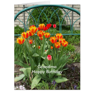 Bed of Tulips for Grandma Card