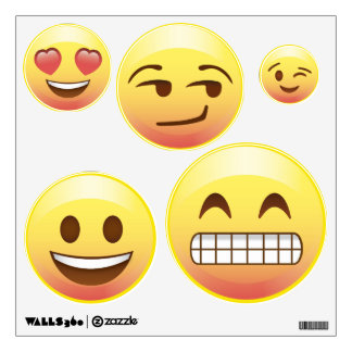 Bed Room Makeover Emoji Wall Decals Happy Emotions