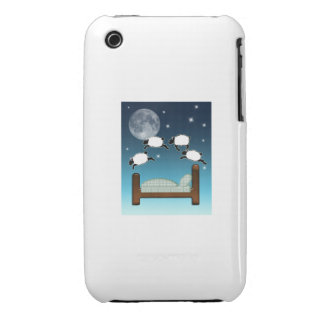 Bed, Sky, & Counting Sheep at Night Case-Mate iPhone 3 Case