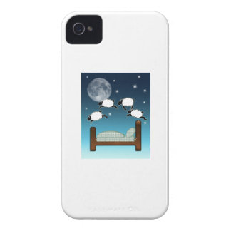 Bed, Sky, & Counting Sheep at Night iPhone 4 Case-Mate Cases