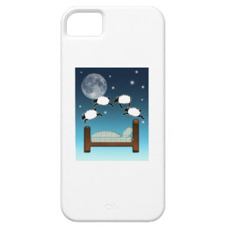 Bed, Sky, & Counting Sheep at Night iPhone SE/5/5s Case