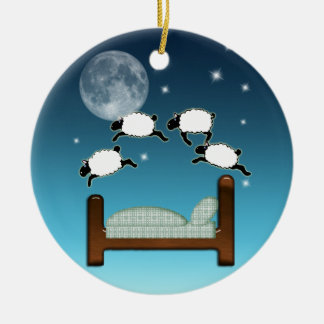 Bed Sky Counting Sheep at Night Christmas Tree Ornament