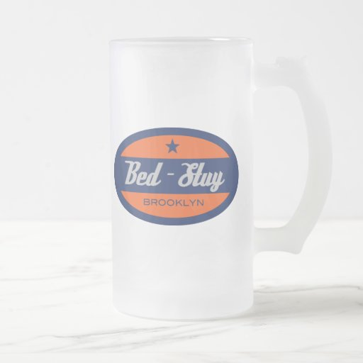 Bed-Stuy 16 Oz Frosted Glass Beer Mug