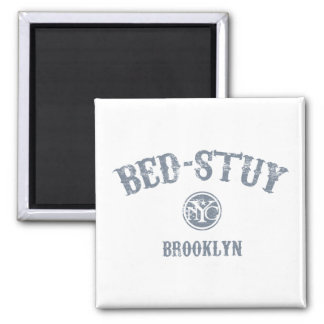 Bed-Stuy 2 Inch Square Magnet