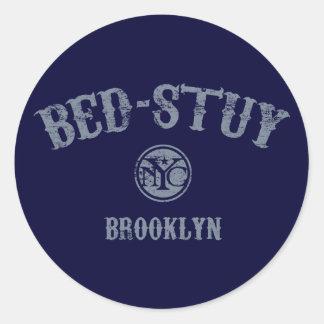Bed-Stuy Classic Round Sticker