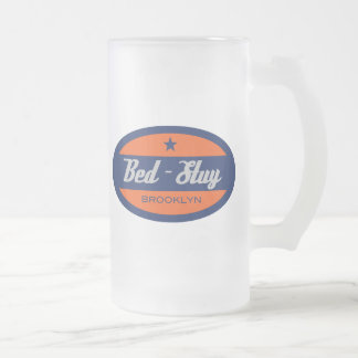 Bed-Stuy Frosted Glass Beer Mug