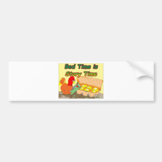 Bed Time is Story Time Bumper Sticker