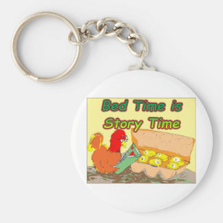 Bed Time is Story Time Keychain
