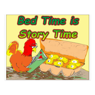 Bed Time is Story Time Postcard