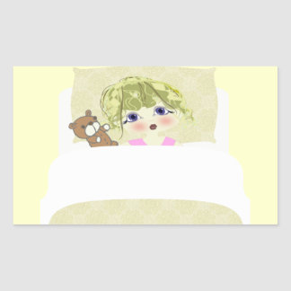 Bed Time! Rectangular Sticker