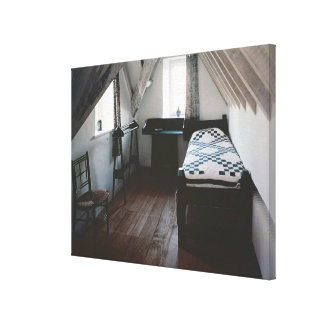 Bed, towel rail designed by Ford Madox Brown Canvas Print