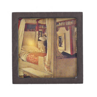 Bed with Curtains Premium Keepsake Boxes