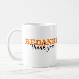 Bedankt/le agradece vocabulario holandés de la taza