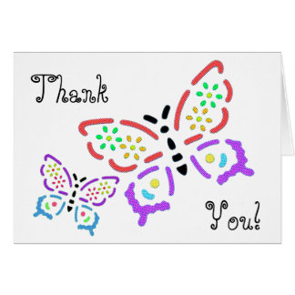 Bedazzled Butterfly Thank You Card